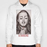 ultraviolence Hoodies featuring Ultraviolence by MarryTheSequins