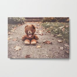 Scary Teddy Bear Metal Print