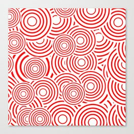 circles in red and white Canvas Print