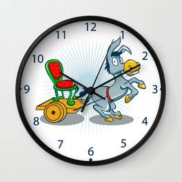 Donkey with cart Wall Clock