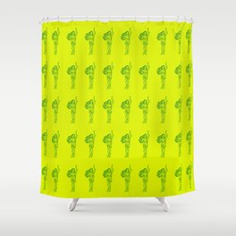 Ancient Nymph Mythical Mythology Color Pattern Shower Curtain