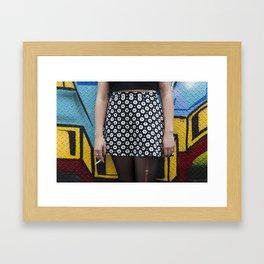 Skirt and cig Framed Art Print