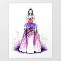 sparkle Art Prints featuring Sparkle by Tania Santos
