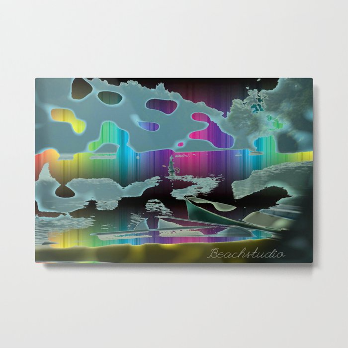 Rainbow Sail Metal Print