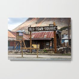 Old Town Square - Silverton, Colorado Metal Print