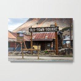 Old Town Square - Silverton, Colorado Metal Print