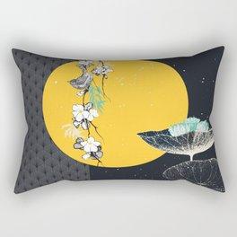 soleil couchant sur nénuphars Rectangular Pillow