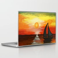 tequila Laptop & iPad Skins featuring Tequila Sunset by William Gushue