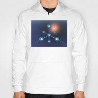 technology Hoodies featuring Technology In Space by Phil Perkins