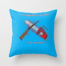 Evil Dead: It's Dangerous to go alone! Throw Pillow