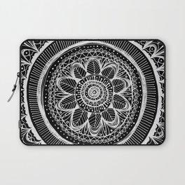 Black Flower Mandala Laptop Sleeve