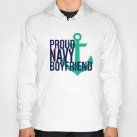 boyfriend Hoodies featuring Proud Navy Boyfriend by The Other McClane