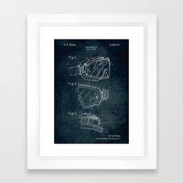 1981 - Ski Goggles patent art Framed Art Print