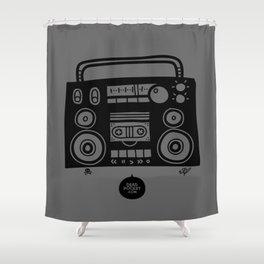 Boomboombox Shower Curtain
