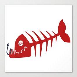Pirate Bad Fish red- pezcado Canvas Print