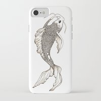 koi fish iPhone & iPod Cases featuring Koi Fish  by nikart