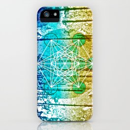 The Flower of Life & Metatron's Cube - The Rainbow Tribe Collection iPhone Case