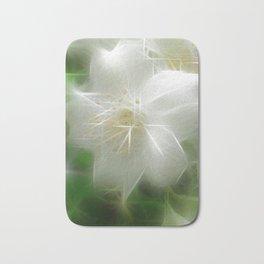 White Shiny Jasmine Bath Mat