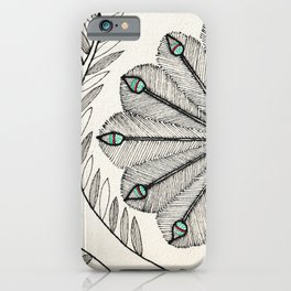 Madhubani Peacock iPhone Case
