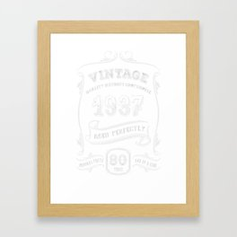 Vintage-1937---80th-Birthday-Gift-Idea Framed Art Print