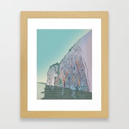 Mazinaw Rock Framed Art Print