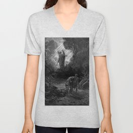 Adam and Eve Driven out of Eden- Dore Unisex V-Neck