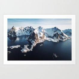 lofoten skyline Art Print