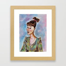 Portrait of a Young Businesswoman Framed Art Print