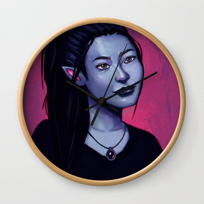 Portrit of Amara Wall Clock