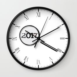 2017 Magnifying Glass Wall Clock