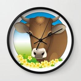 cow Wall Clock