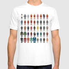 Iron Man - The Pixel Collection White Mens Fitted Tee SMALL