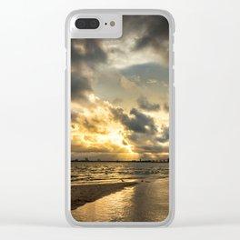 Golden Summer Evening Clear iPhone Case
