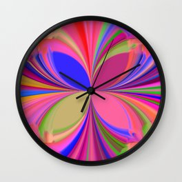 Colorful Kaleidoscope Wall Clock