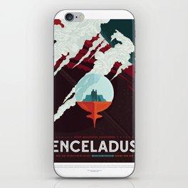 Enceladus - NASA Space Travel Poster iPhone Skin