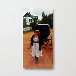 Anne of Green Gables Pulls the Carriage Metal Print