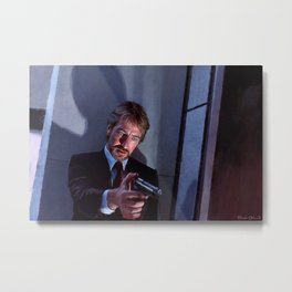 Painting Illustration Of Hans Gruber From The Movie Die Hard Metal Print