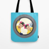 breaking Tote Bags featuring Breaking by Stubarb