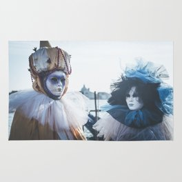 Couple of carnival masks in Venice Rug