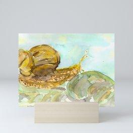 Such a Snail Mini Art Print