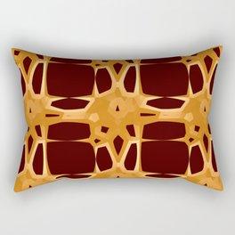 Mid Century Modern Retro Stars Brown Rectangular Pillow
