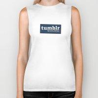 tumblr Biker Tanks featuring Tumblr Whore by nZ.Design