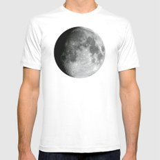 Moon Mens Fitted Tee White MEDIUM