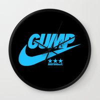 forrest gump Wall Clocks featuring Gump- JustDoIt IV by IIIIHiveIIII