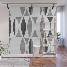 Seventies Black and White Wall Mural