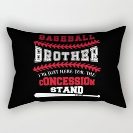 Baseball Brother T Shirt - Just Here For Concession Stand Rectangular Pillow
