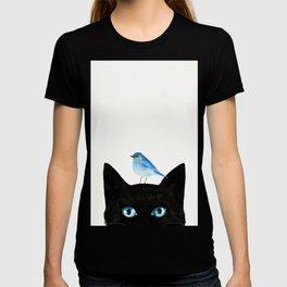 Cat and Bird T-shirt