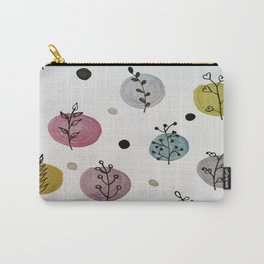 Polka leaves Pattern Carry-All Pouch