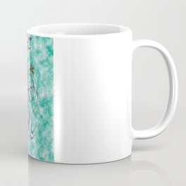 Koi with flaming lotus flowers Coffee Mug