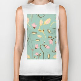seamless summer tiny floral pattern Biker Tank